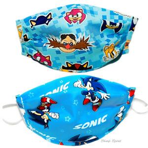 Adult Kids Sonic The Hedgehog Reusable Fabric Face Mask W Pocket For Filter Ebay