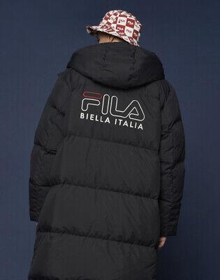 FILA Ace Long Goose Down VER 2.0 Coat Parka Jacket Black FS2DJB4003X BLK | eBay