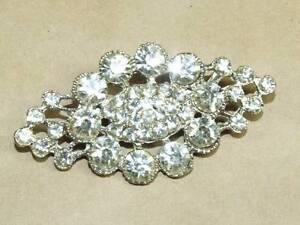 Vintage-Art-Nouveau-Filigree-Rhinestone-Cluster-Pin-Brooch