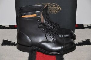 Ralph-Lauren-RRL-Bowery-Made-In-England-Black-Leather-Ankle-Boots