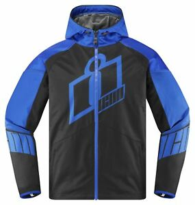 Icone-Merc-Crusader-Bleu-Noir-Veste-Moto