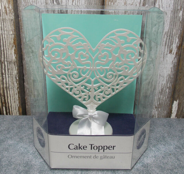 WILTON FILIGREE HEART CAKE TOPPER/ORNAMENT 1006-7138 NEW IN PACKAGE