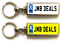 miniature 12 - Personalised Metal Double Sided Registration Number Plate Keyring Any Name /Text