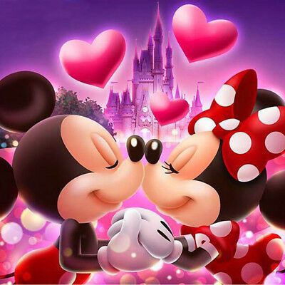5d Diy Daimond Painting Mickey Minnie Mouse Couple Rhinestone
