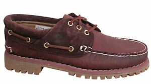 3 Boat Burgundy Lug Timberland Eye Lace Leather scarpe Uomo T2 A163y Ek Up 5fqYxxwza