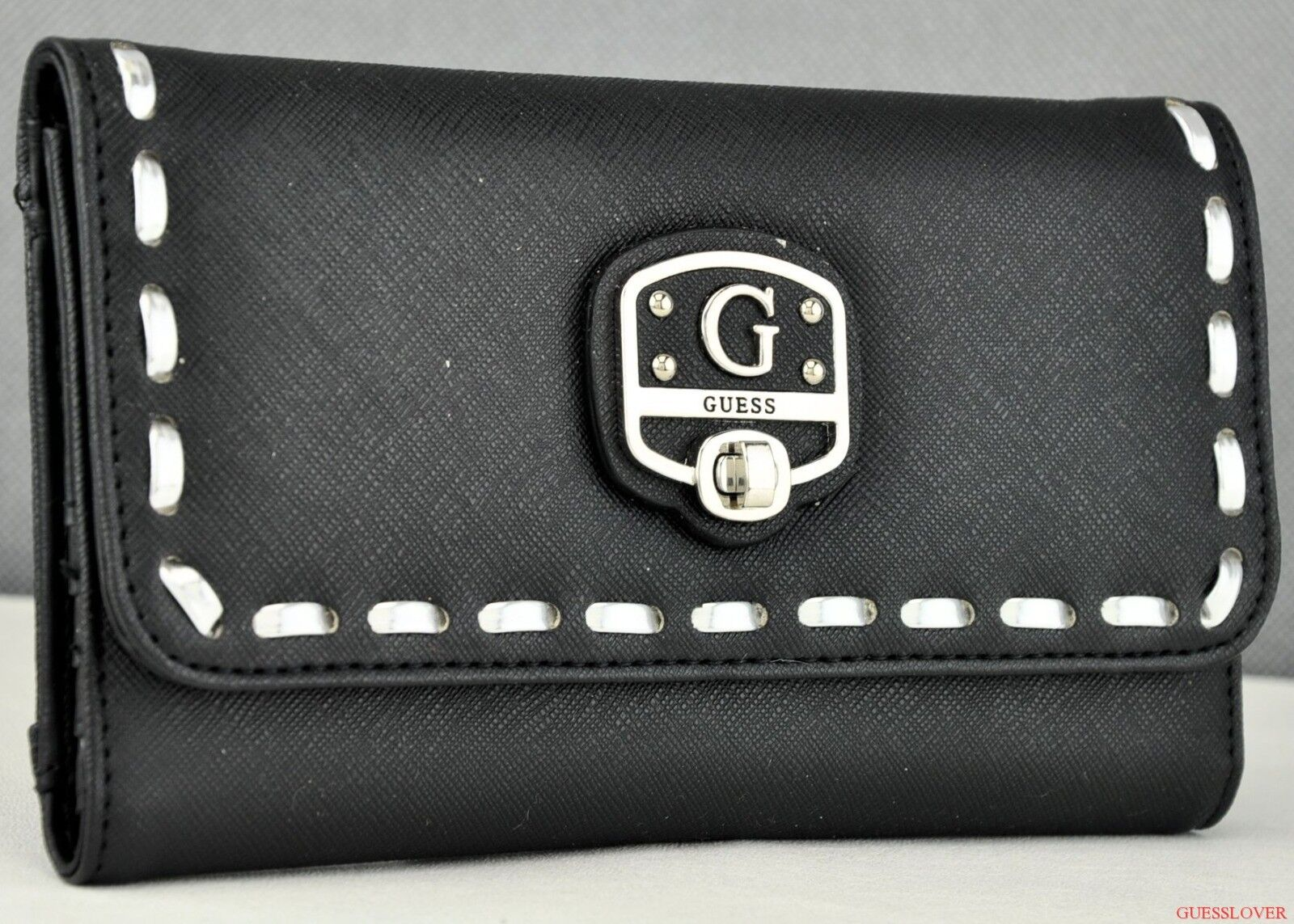 FREE Ship USA SLG Wallet GUESS Garland Black New Ladies Lovely Stylish