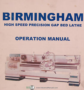 Birmingham DL Series 18/22/26L, Gap Bed lathe, Operations Manual