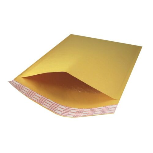 """Case of 100 7.25/"""" x 11/"""" #1 Kraft Bubble Mailers Self Seal Padded Envelopes"""