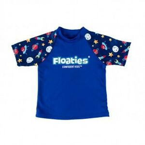 Floaties Boys' Rash Vest - Rocket Ship  9318499006573
