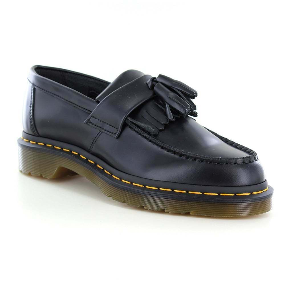 DR Martens Scarpe Adrian Unisex Scarpa Mocassino Scarpe Martens Di Pelle Nera 454875