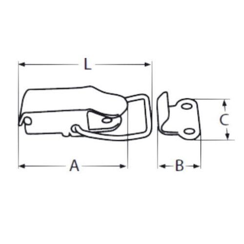 4 x Mini Spannverschluss Kistenverschluss Kofferverschluss Hebelverschluss V2A