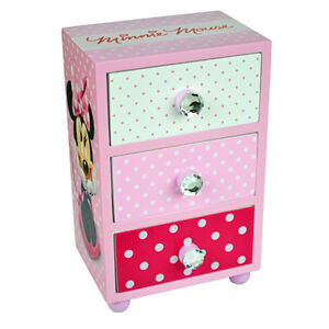Image Is Loading Minnie Mouse Bedroom  Drawer Storage Kids Wooden