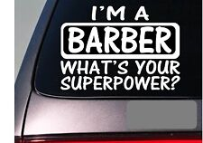 I'm a barber sticker decal *E196* scissors clippers hairstylist school