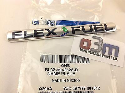Chevrolet Buick GMC Rear Compartment Flex Fuel Vehicle Nameplate Emblem new OEM