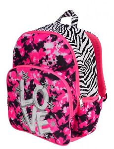 NEW Justice Girls Dye Effects zebra backpack School Book Bag NEW ...