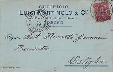 # TORINO: testatina- CUOIFICIO LUIGI MARTINOLO & Cia - 1899