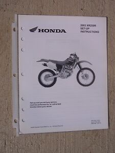 2003 honda motorcycle scooter xr250r set up instruction manual image is loading 2003 honda motorcycle scooter xr250r set up instruction