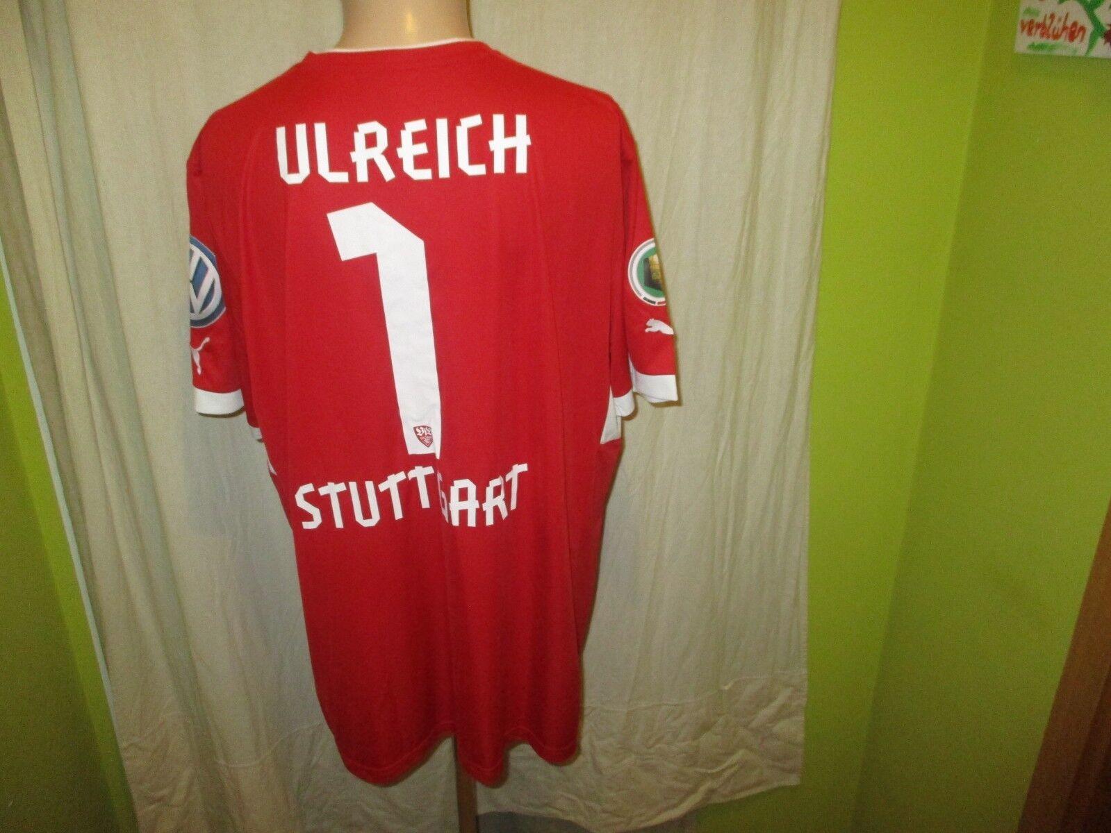 VfB Stuttgart Puma DFB-Pokal Torwart Trikot Trikot Trikot 2013 14 + Nr.1 Ulreich Gr.XXL Neu 839b72