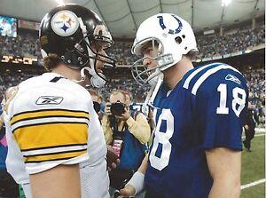 Peyton Manning Ben Roethlisberger 8x10 Photo Indianapolis Colts Nfl