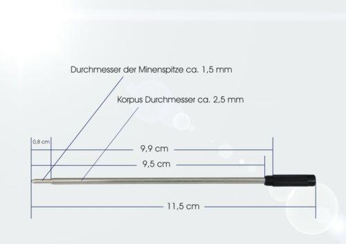 NEU 5 St Kugelschreiberminen Cross Schraub System baugleich wie Cross Mine