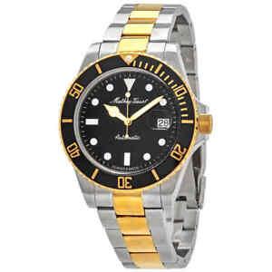 Mathey-Tissot-Mathey-Vintage-Automatic-Black-Dial-Men-039-s-Watch-H9010ATBN
