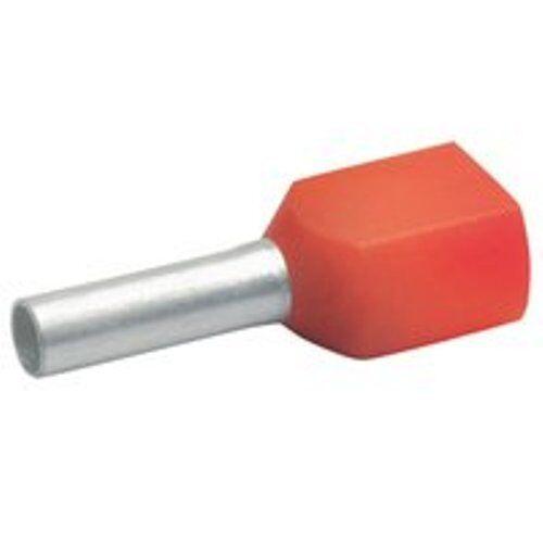 Aderendhülse 1 mm Stiftlänge 8mm rot VE 100Stk. Twin