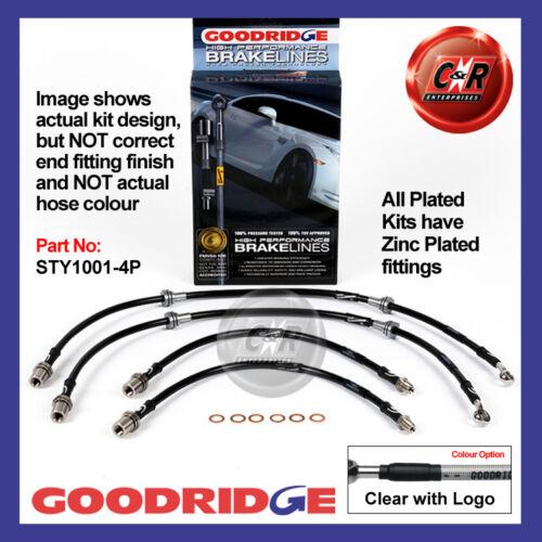 Toyota Supra MA70 86-92 Goodridge Zinc Plated CLG Brake Hoses STY1001-4P