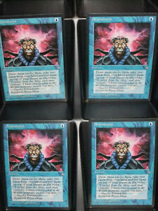 Brainstorm-Ice-Age-Magic-The-Gathering-MTG-Cards-4x-x4-NM-Never-Played-Playset