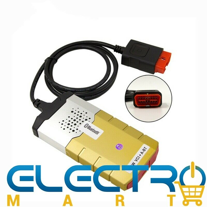 Gold Delphi DS155e Bluetooth Auto Diagnostic Tool  Cars  Trucks New