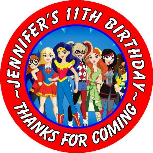 Detective Comics Comics Super Héros Filles Anniversaire Rond Parti Autocollants faveurs ~ différentes tailles