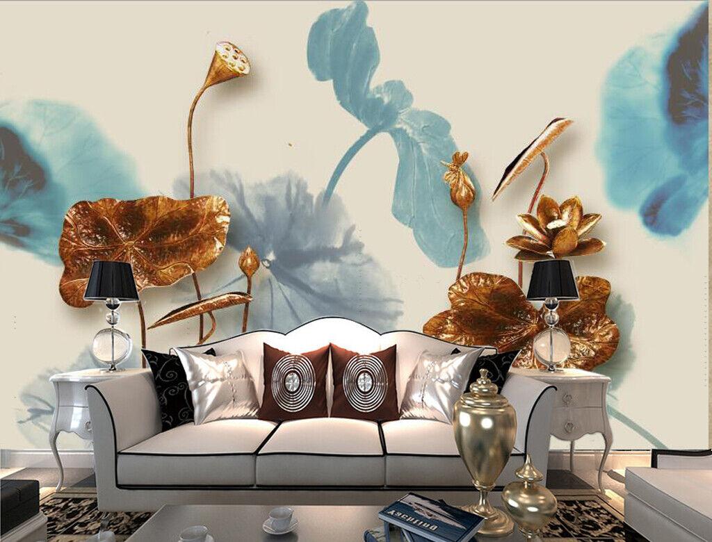 3D Art Lotus M090 Tapete Wandbild Selbstklebend Abnehmbare Aufkleber Amy
