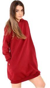 l'atteggiamento migliore 2851e 57d14 Dettagli su Donna Manica Lunga Ampia , Larga con Cappuccio Top Vestito Felpa