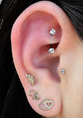 ORAZIO 16G Eyebrow Lip Belly Button Rings Rook Earrings Daith Helix Piercings Barbell Body Jewelry
