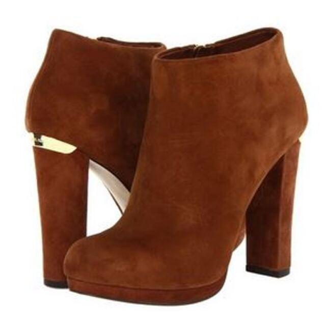 0802c9bb44309 Women's Shoes Michael Kors HAVEN BOOTIE Platform Boots Heels Booties Cognac  for sale online