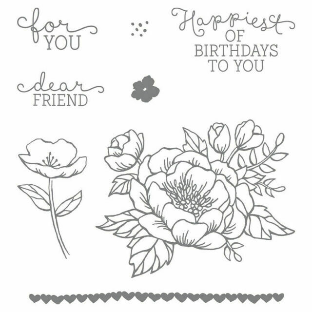 Stampin up Birthday Blooms Stamp Set 140658 for sale online | eBay