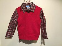 Good Lad Boys 3pc Red Valentine Sweater Vest Black Outfit Size 4t