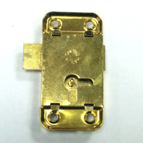 2.5 Inch 65mm Brass Door Lock /& Key For Wardrobe Cupboard Cabinet Desk Drawer