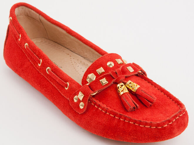 New  Francesco V. Red Suede Made in Italy shoes Size 39 US 9