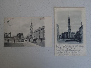 Vintage-Postcard-Set-of-Two-of-The-WestKirk-Greenock-with-stamps-66-67