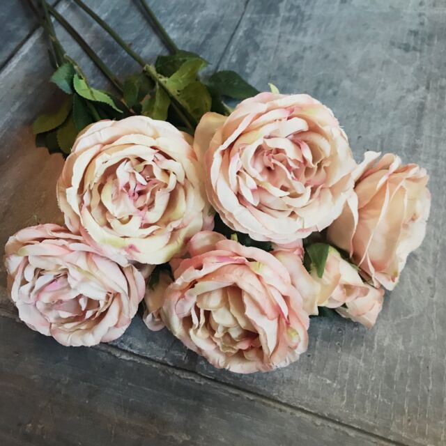 Bunch of 10 vintage roses artificial luxury silk flowers antique bunch of 5 antique pink roses realistic artificial luxury faux silk flowers mightylinksfo