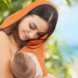 Nursing Cover Baby Breastfeeding 4 in 1 Silk Infant Blanket Mum Up Shawl Poncho