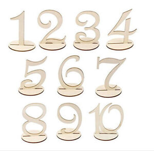 10pcs-Wooden-Table-Numbers-Stick-Set-w-Holder-Base-For-Wedding-Birthday
