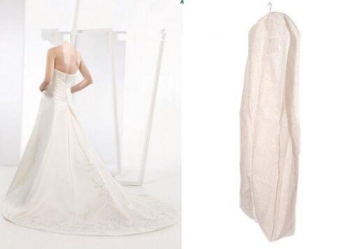 Deluxe PP Weiß Kleidersack Kleiderhülle Schutzhülle für Brautkleid Abendkleid Ho