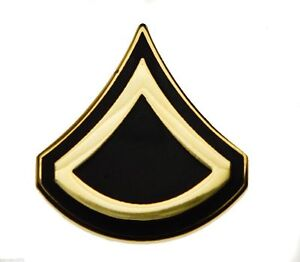 28b6bbeafbd Army Private First Class E-3 Official Hat or Lapel Pin H14424D1