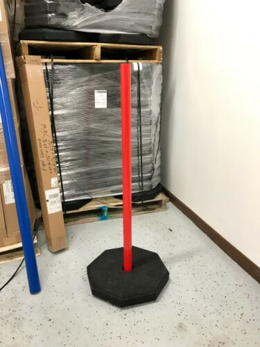 """Details about  /30lb Octagon base with1.1//2/"""" center hole for 1.5/"""" PVC Post Use signs upto 20x30"""
