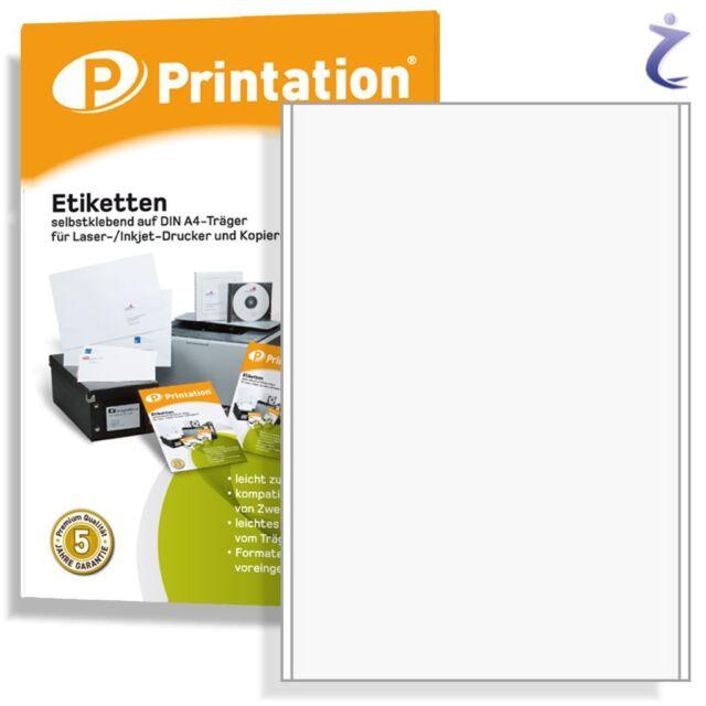 ETIKETTEN 200 Blatt A4 weiß Laser Inkjet Kopierer selbstklebend viele Größen