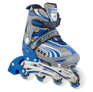 """Spartan Childrens Inliners """"Storm"""", Adjustable, 252 Blue Inline Skates Adjustable"""