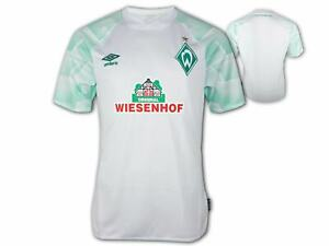 Umbro-Werder-Bremen-Auswaertstrikot-20-21-weiss-SVW-Away-Shirt-Fan-Jersey-Gr-S-3XL