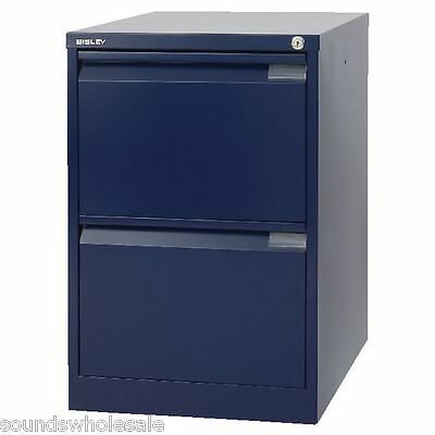 NEW 3 DRAWER /'PROFESSIONAL/' BISLEY STEEL FILING CABINET BLUE A4