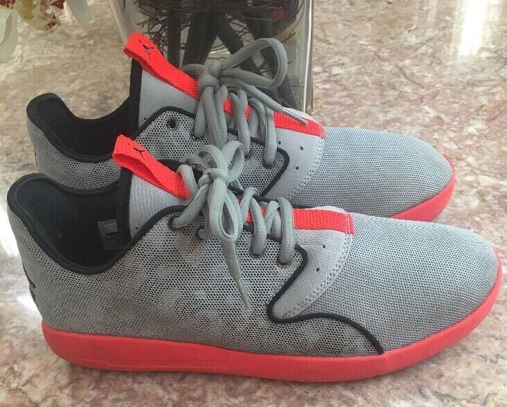Nike air jordan uomini è grigio / orange tennis atletico sz - 724010-006 euc